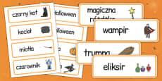 Halloween Word Cards Polish