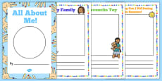 All About Me EYFS Transition Booklet