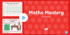 Year 2 Christmas Maths Mastery PowerPoint
