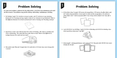 Differentiated Addition and Subtraction Word Problem Activity Sheets