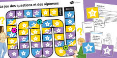 Asking Questions in French Board Game