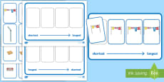 Workstation Pack – Length  Ordering (Four Pictures) Activity Pack