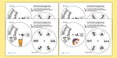 Initial Blend Cluster Phonics Word Wheels