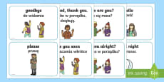 Greetings A5 Flashcards English/Polish