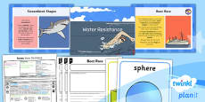 PlanIt - Science Year 5 - Forces Lesson 4: Water Resistance Lesson Pack