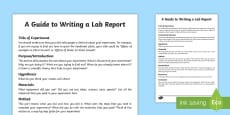 How to Write a Science Lab Report