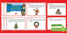 Year 2 Christmas Mental Maths Challenge Cards