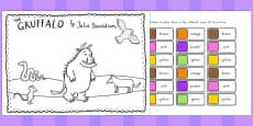 Australia - The Gruffalo Colour Labels Activity
