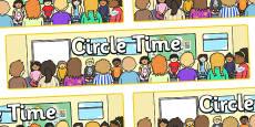 Circle Time Display Banner