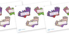 Editable Self Registration Labels (Wooly Gloves)