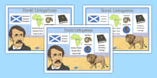 Scottish Significant Individuals David Livingstone Word Mat