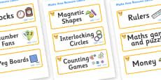 Phoenix Themed Editable Maths Area Resource Labels
