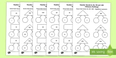 Number Bonds to 10, 20 and 100 Ultimate Challenge Activity Sheet English/Polish