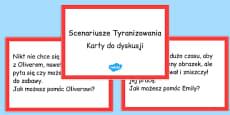 Bullying Scenario Discussion Cards Polish