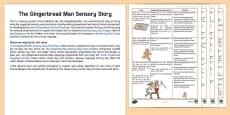 The Gingerbread Man Sensory Story