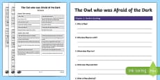 Differentiated Reading Comprehension Activity to Support Teaching of The Owl Who Was Afraid Of The Dark