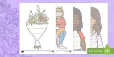 Mother's Day Themed Editable Shape Poetry