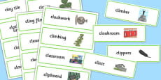Two Syllable CL Word Cards