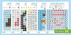 Winter Mosaic Images Activity Sheets