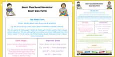 EYFS Editable Newsletter Template