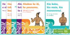 Te Reo Māori Quote and Proverb Display Posters Te Reo Māori/English