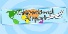 International Airport Display Banner - Australia