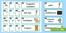 Panther Themed Editable Writing Area Resource Labels