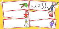Punch and Judy Editable Drawer Peg Name Labels