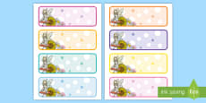 * NEW * Flower and Fairy Drawer Peg Name Labels