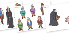 Snow White and the Seven Dwarfs Story Cut Outs