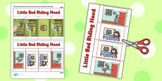 Little Red Riding Hood Story Writing Flap Book