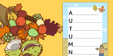 Autumn Acrostic Poem Template