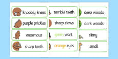 The Gruffalo Description Words Display