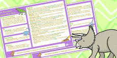 Dinosaurs KS1 Lesson Plan Ideas