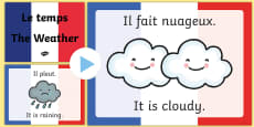 French Weather PowerPoint