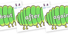 KS1 Keywords on Fat Caterpillars to Support Teaching on The Very Hungry Caterpillar