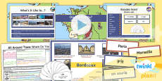 PlanIt - French Year 4 - All Around Town Lesson 1: Where Do You Live? Lesson Pack