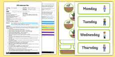 EYFS Days of the Week Adult Input Plan and Resource Pack to Support Teaching on Oliver's Vegetables