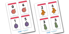 Number Bonds to 6 Matching Cards (Food)