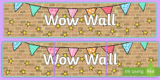 Wow Wall Display Banner