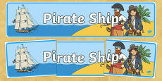 Pirate Ship Display Banner