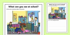 School Scene Writing Stimulus Picture