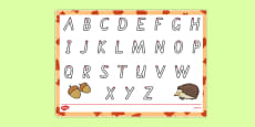 Autumn Themed Letter Writing Activity Sheet