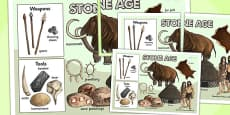The Stone Age Large Display Poster