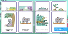Ronald the Rhino Positional Language Display Posters