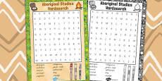 Australia - Aboriginal and Torres Strait Islander People Wordsearch