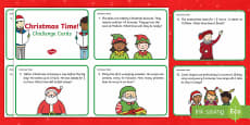 Year 2 Christmas Maths Time Challenge Cards