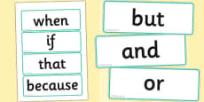 Conjunction Word Cards