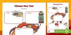 Chinese New Year Event News Report Writing Frames (Differentiated)