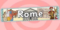 Rome Display Banner